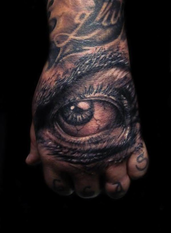 Mind Blowing 3D Eye Tattoo Design Image Make On Hand