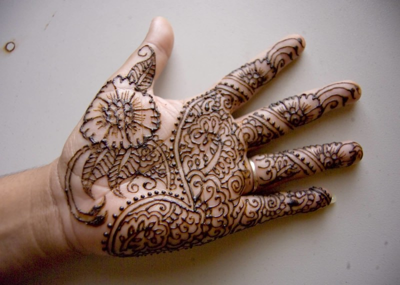 Nice One Henna Tattoo Design Image Make On Hand For Cool Women