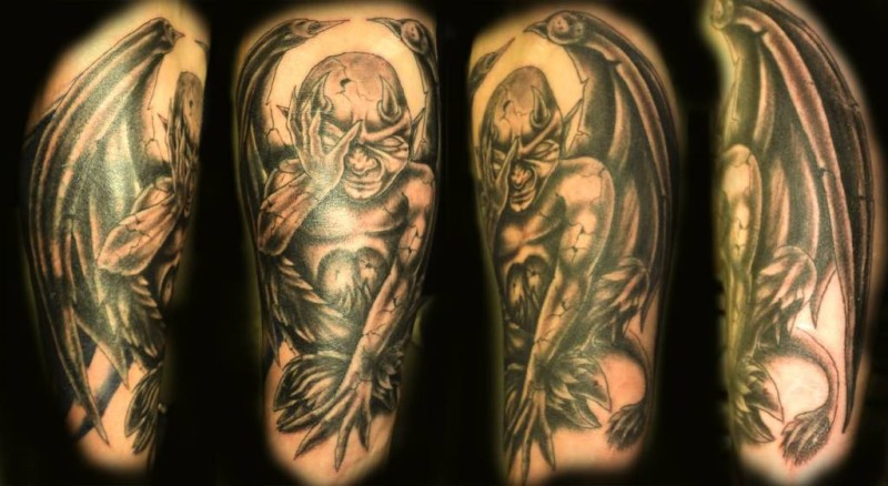 Nice One Simple Gargoyle Tattoo Design Pictures