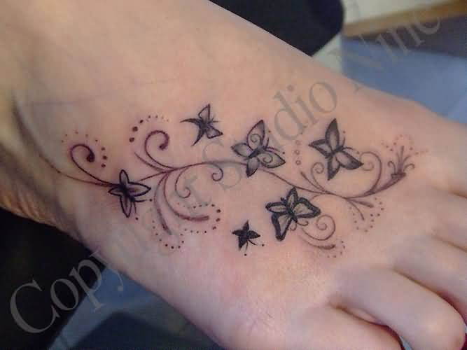 Simple Small Butterfly Tattoo Designs