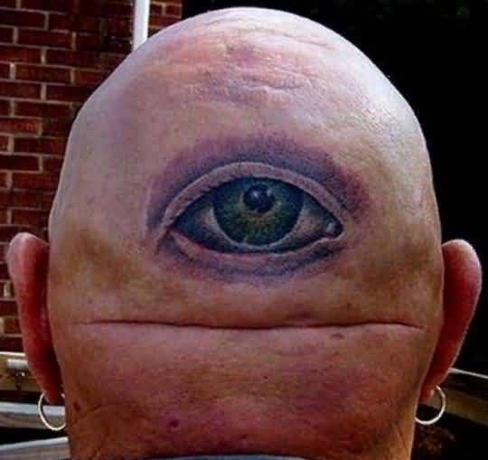 Simple 3D Funny Eye Tattoo Design Image Made By Perfect Artist