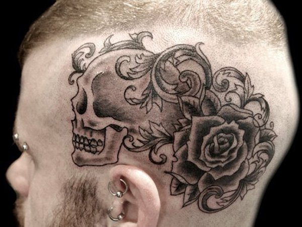 Head tattoo ideas and head tattoo designs for Tattoos on side of head