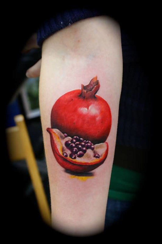 Ultimate Fruits Tattoo Design For Sleeve Made By Perfrect Artist