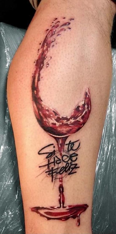 Glass tattoo ideas and glass tattoo designs page 2 for Cool wine glass designs