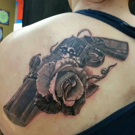 Women gun tattoo ideas and women gun tattoo designs page 6 for Gun tattoos for girls