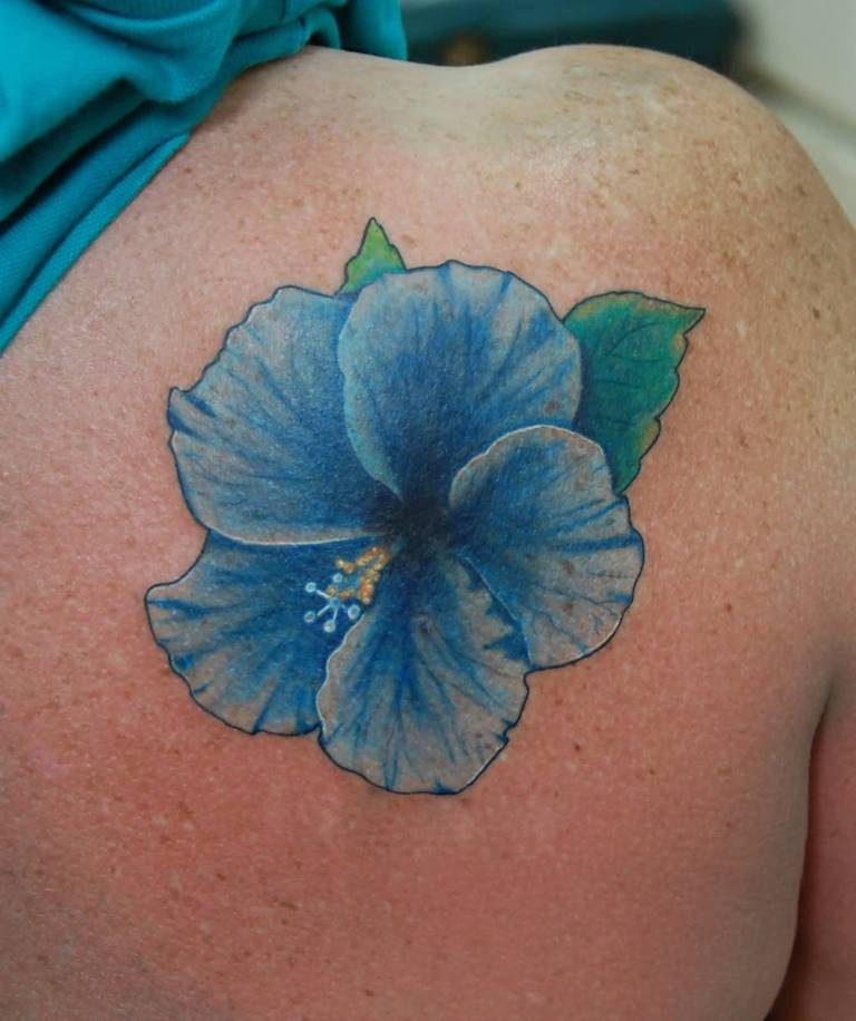 Simple Hibiscus Flower Tattoo: Images, Pictures -Tattoos Hunter