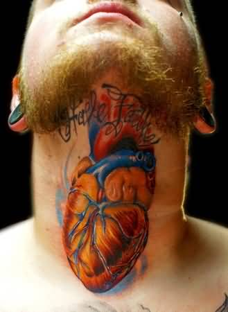 Brilliant Real Heart Tattoo Design For Cool Men
