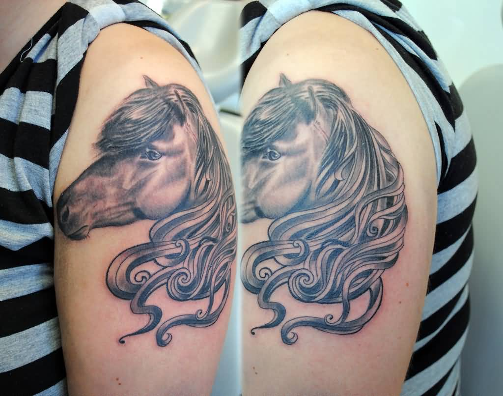 horse head tattoo ideas and horse head tattoo designs page 2. Black Bedroom Furniture Sets. Home Design Ideas