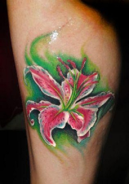 Coolest Nice One Lovely Pink Orchid Tattoo