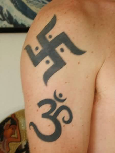 Famous Om And Ganesha Hinduism Symbol Tattoo Design Image ...