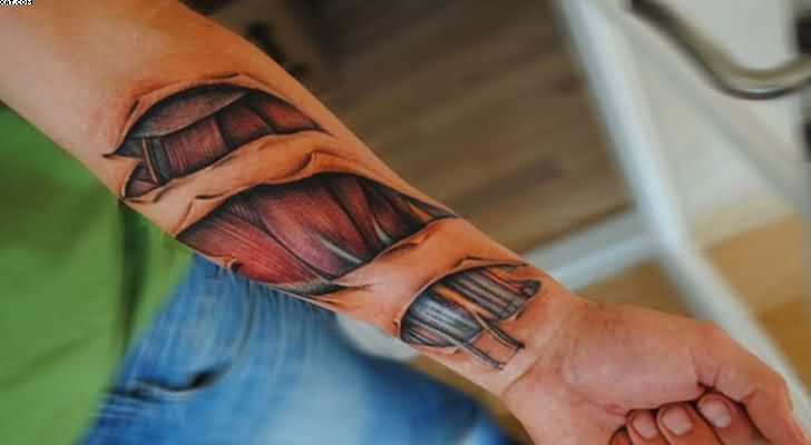 Fantastic Wrist Biomechaical Tattoo Design For Men