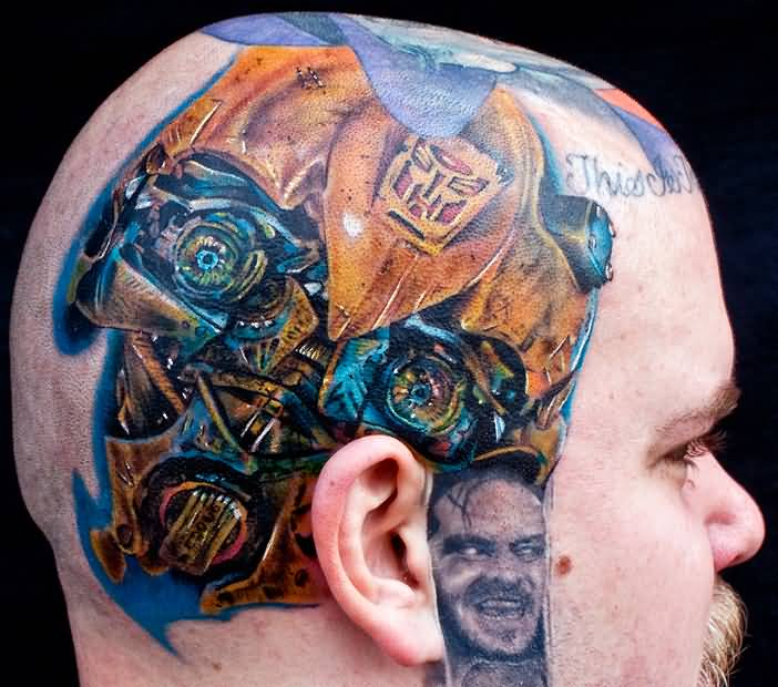 Mind Blowing Biomechanical Tattoo Design Image Make On Side Head