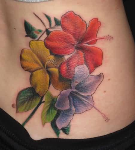 Mind Blowing Hibiscus Flower Tattoo Design Image Make On Lower Back