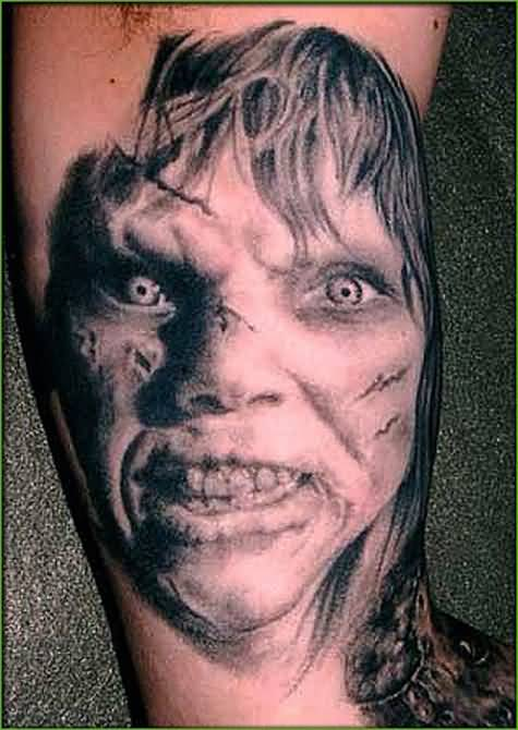 horror face tattoo ideas and horror face tattoo designs page 4. Black Bedroom Furniture Sets. Home Design Ideas