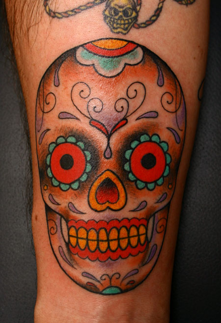 Mexican tattoo ideas and mexican tattoo designs for Candy skull tattoo
