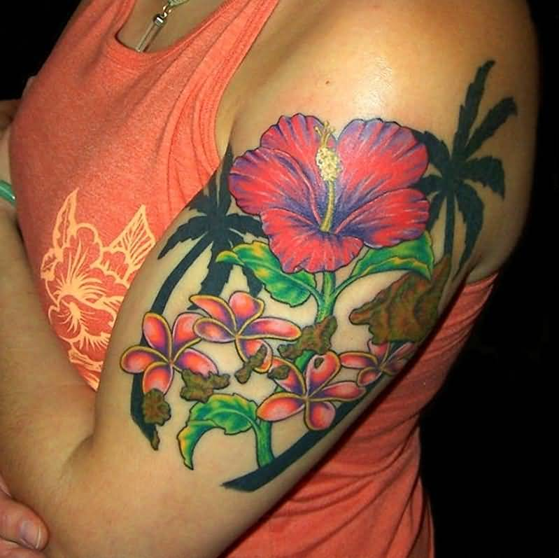 hibiscus flower tattoo ideas and hibiscus flower tattoo designs page 3. Black Bedroom Furniture Sets. Home Design Ideas