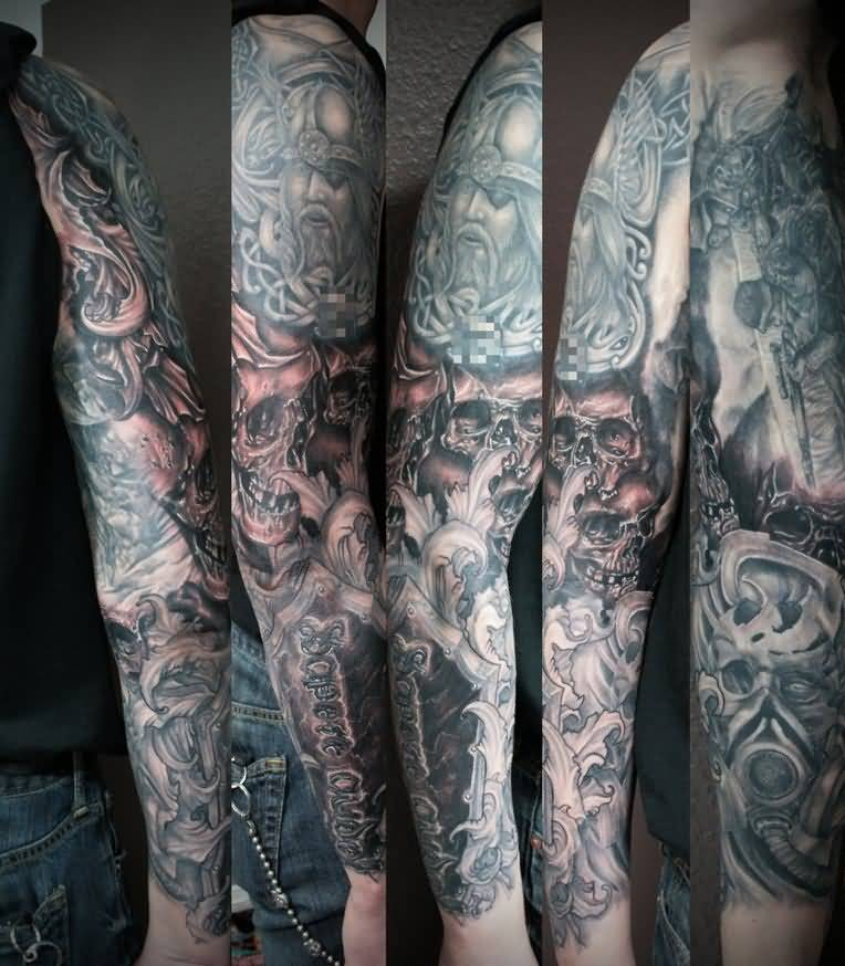 horror sleeve tattoo ideas and horror sleeve tattoo designs page 2. Black Bedroom Furniture Sets. Home Design Ideas