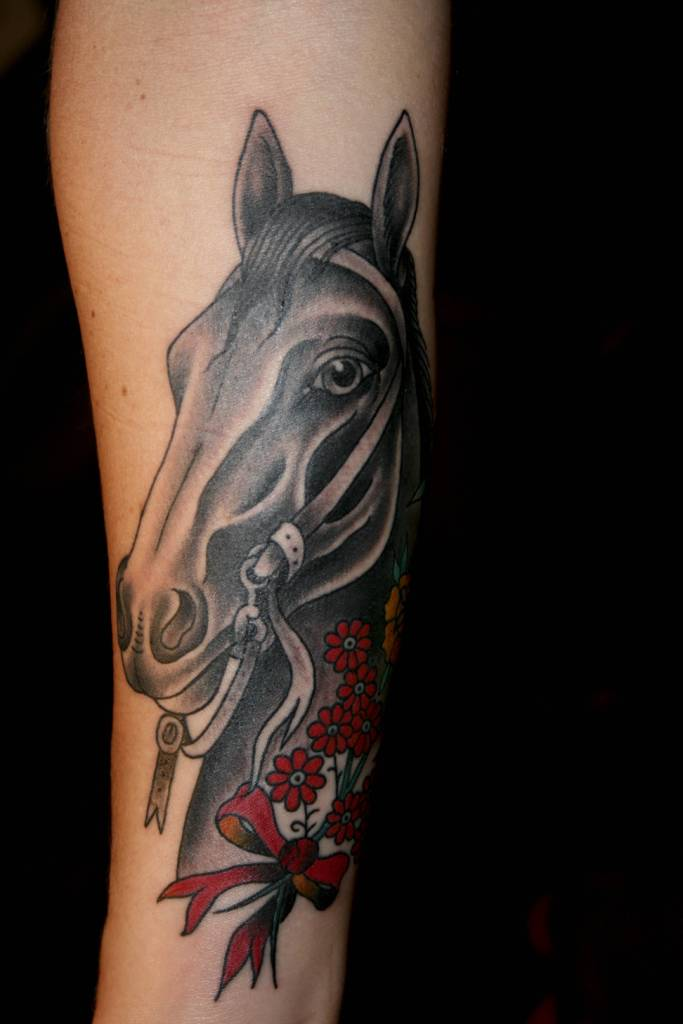horse head tattoo ideas and horse head tattoo designs page 4. Black Bedroom Furniture Sets. Home Design Ideas