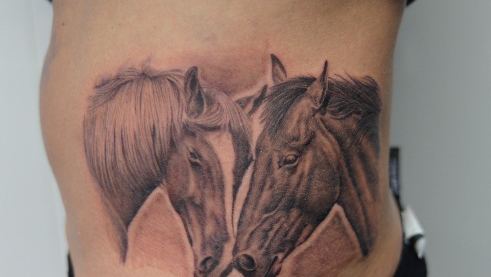 Sweet Romantic Couple Simple Horse Head Tattoo Design Cool Image