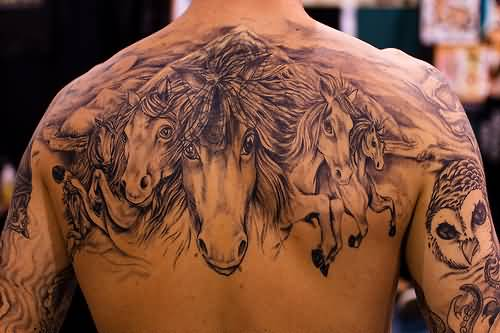 Simple horse tattoo ideas and simple horse tattoo designs for Cool simple tattoos for guys