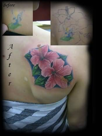 Outstanding classy cool hibiscus flower tattoo on women s for Cool cover up tattoos