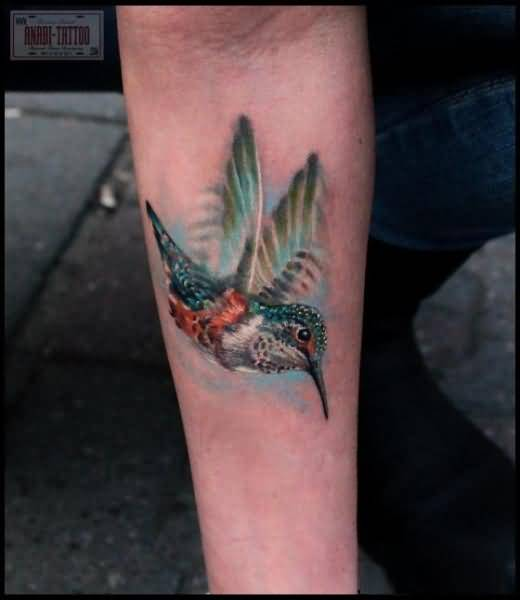 Wonderful Classy Lower Sleeve Wonderful Hummingbird Tattoo