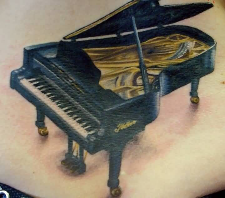 Grand Nice Piano  Tattoo Design Idea
