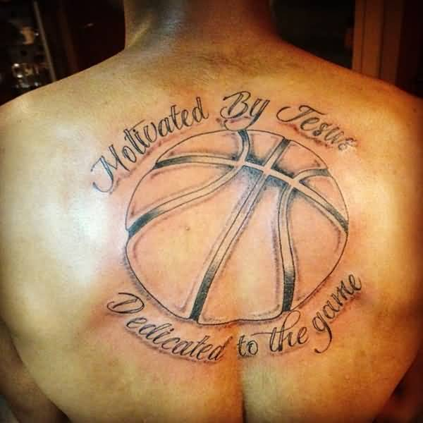 Simple basketball tattoo images for Simple back tattoos for guys