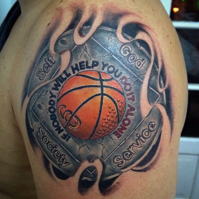 basketball tattoo ideas and basketball tattoo designs page 2. Black Bedroom Furniture Sets. Home Design Ideas