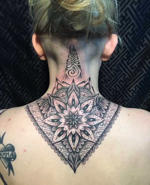 Beautiful Mandala Flower Tattoo Design For Women