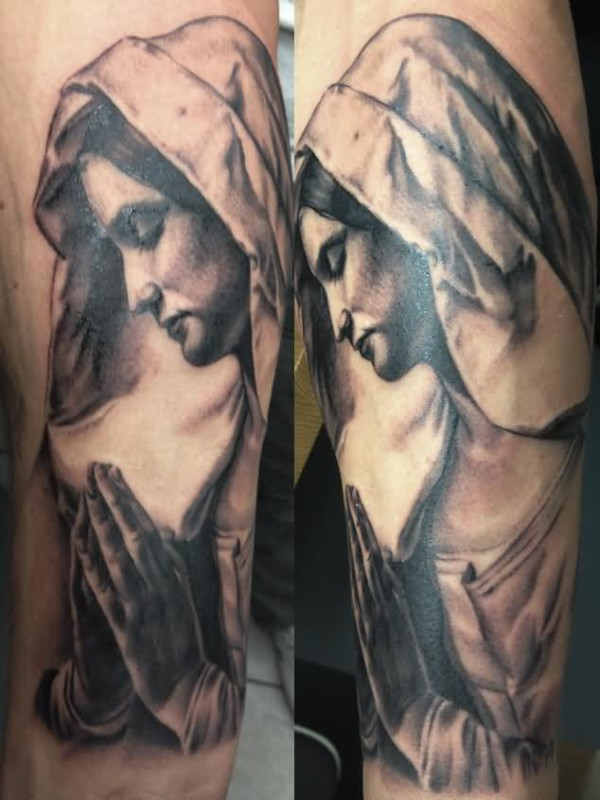 Dennis Designed A Ultimate Lord Saint Mary Mother Of God Tattoo