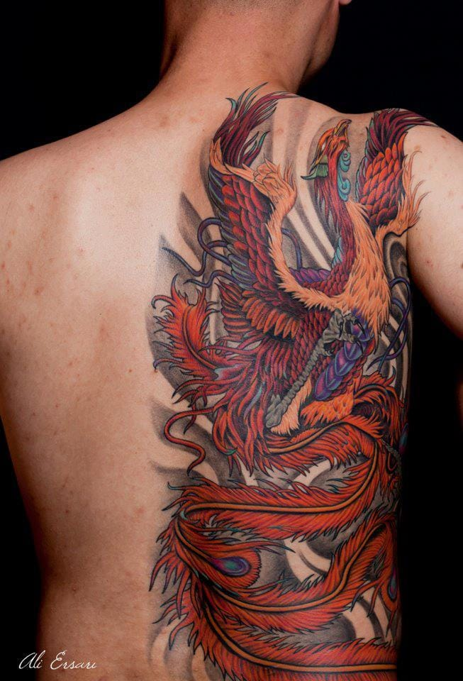 Phoenix tattoo ideas and phoenix tattoo designs page 6 for Side back tattoo