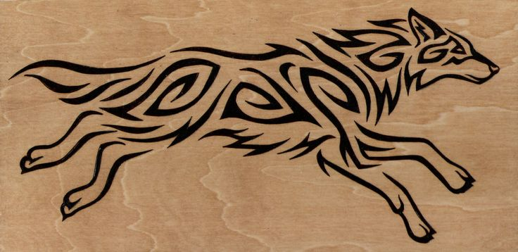 Epic Angry Birds Timelapse Drawings Cool Music: Black Cool Inked Tribal Style Wolf Head Tattoo